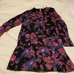 Dropped waist Floral Dress
